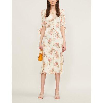 Reformation Bryar Floral-Print Crepe Midi Dress