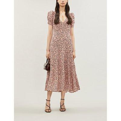 Cosa leopard-print crepe dress