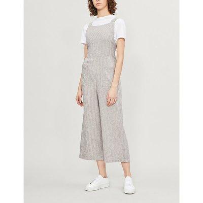 Off the Shore striped linen-blend jumpsuit