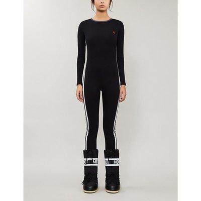 Striped slim-fit stretch-cotton jumpsuit
