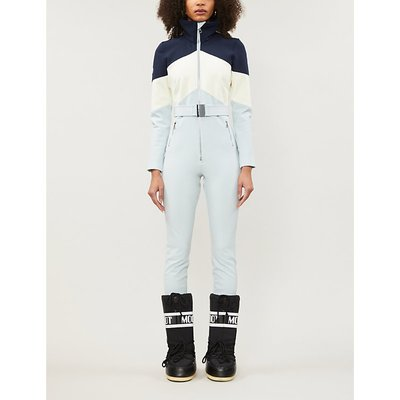 Alta belted colour-block waterproof twill ski jumpsuit