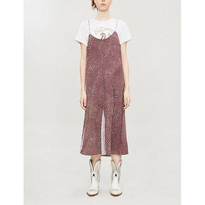 Dirdre dot-print strappy crepe dress