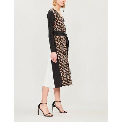Maureen silk-crepe dress