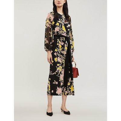 Delphi floral-print crossover silk-crepe jumpsuit