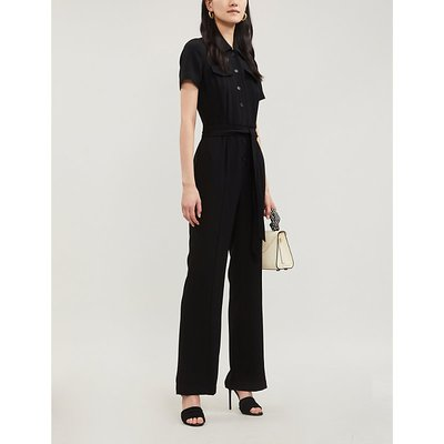 Daisy waist-tie crepe jumpsuit
