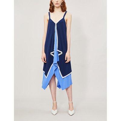 Wren silk-crepe dress