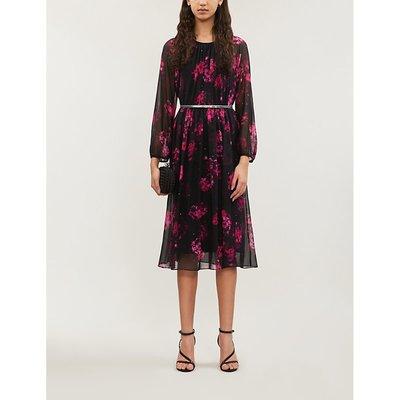 Etna floral-print silk midi dress
