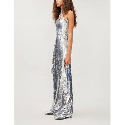 Jorja strapless sequinned dress