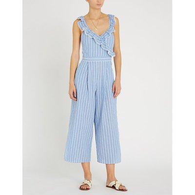Sea Stripe striped cotton jumpsuit