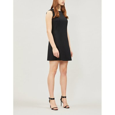 Theory Black Helaina Stretch Wool Dress