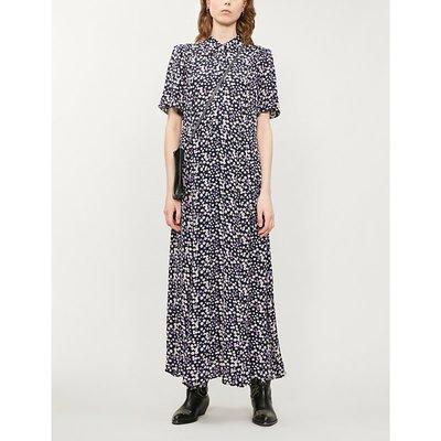 Lourdes floral-print crepe dress