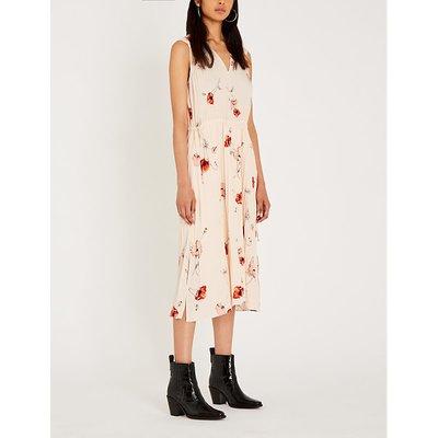 V-neck sleeveless crepe dress