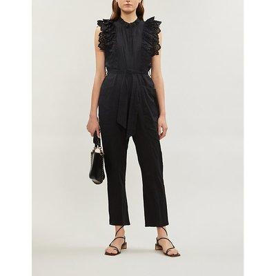 Limon broderie anglaise-trim cotton jumpsuit