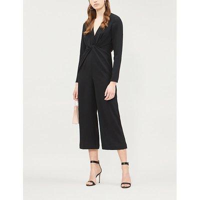Twist-front crepe jumpsuit