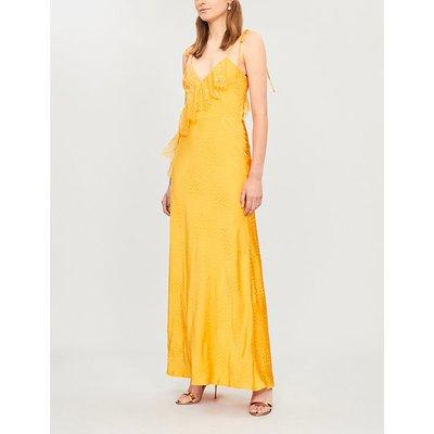 V-neck sleeveless strappy crepe dress