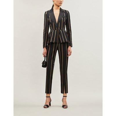 Striped twill jumpsuit
