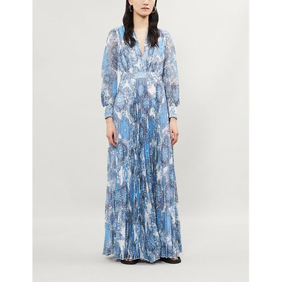 Cheney floral-print pleated crepe maxi dress