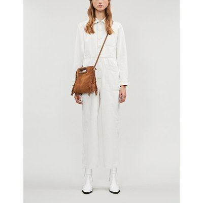 Gia cotton-and-linen blend jumpsuit