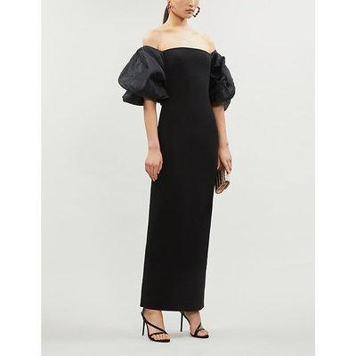 Ellice stretch-ponté and silk-chiffon maxi dress