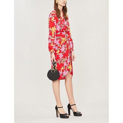Carla floral-print crepe wrap dress