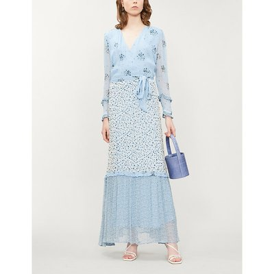 Avery floral-print georgette dress