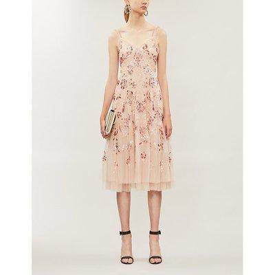 Valentina sequin-embellished tulle midi dress