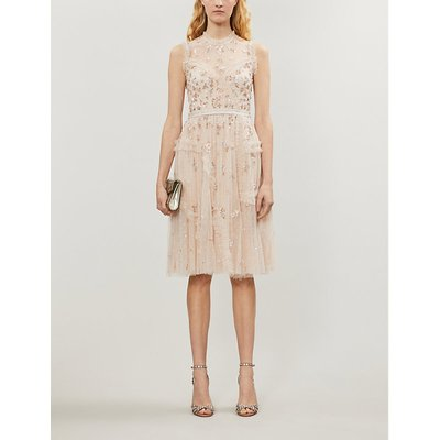 NEEDLE AND THREAD Shimmer ditsy tulle midi dress