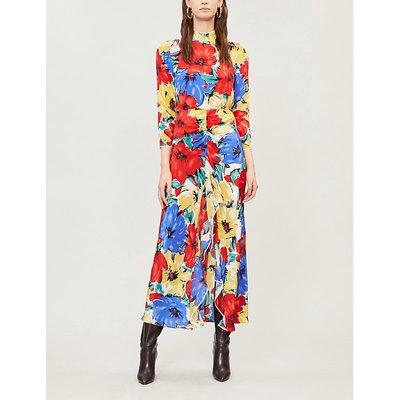 Lucy floral-print silk midi dress