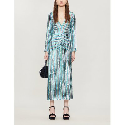 Emmy V-neck sequinned midi dress