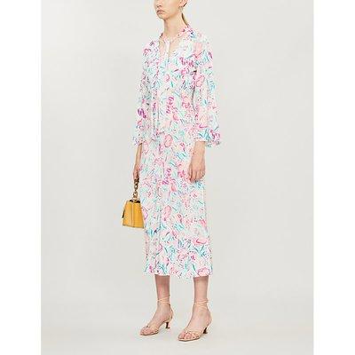 Amel floral-print chiffon midi dress