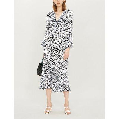 Coleen floral-print silk-crepe midi dress