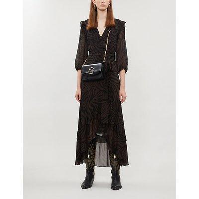 Selina tiger-print crepe midi dress