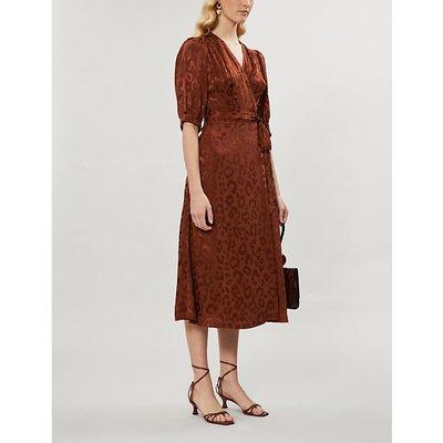 Ayesha leopard-print crepe midi dress
