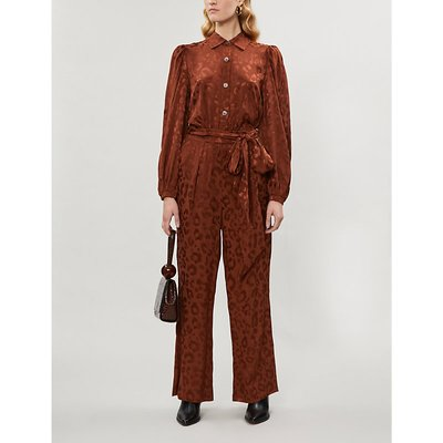 Allegra leopard-print crepe jumpsuit