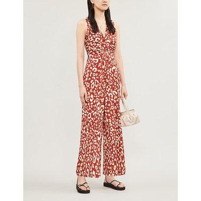 Wayne leopard-print jumpsuit