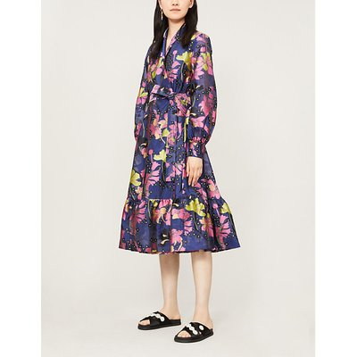 Niki floral jacquard midi dress