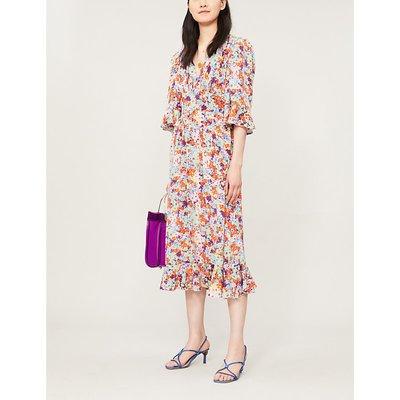 Evelyn floral-print silk-crepe midi dress