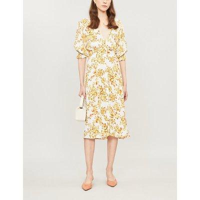 Rafa floral-print rayon midi dress