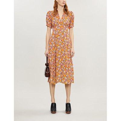 Meadows floral-print rayon midi dress