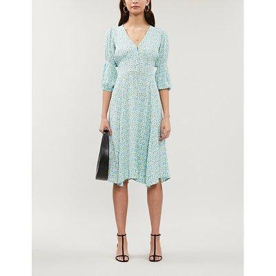 Maud floral-print crepe midi dress