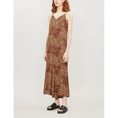Jane leopard-print crepe jumpsuit