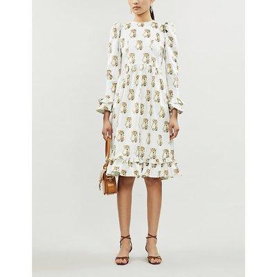 Batsheva x Holly Hobbie Prairie velvet midi dress