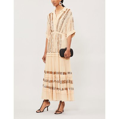 Sable sequinned crepe maxi dress