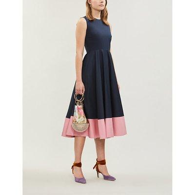 Athena sleeveless cotton-poplin midi dress