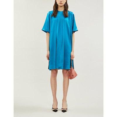Ada silk-satin shift dress