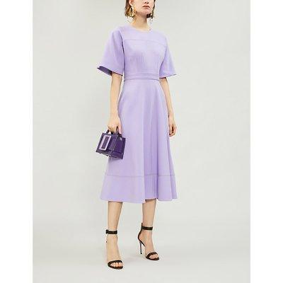 Roksanda Ladies Wisteria Purple Maja Round-Neck Crepe Midi Dress