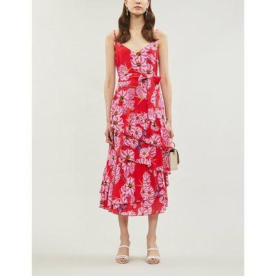 Coco floral-pattern crepe midi dress