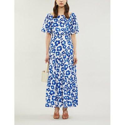 Emelia floral print off-the-shoulder crepe dress