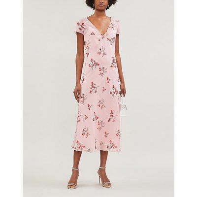 Zoe floral-print crepe midi dress