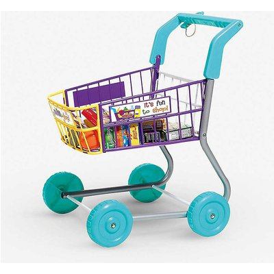 Food shopping trolley toy set
